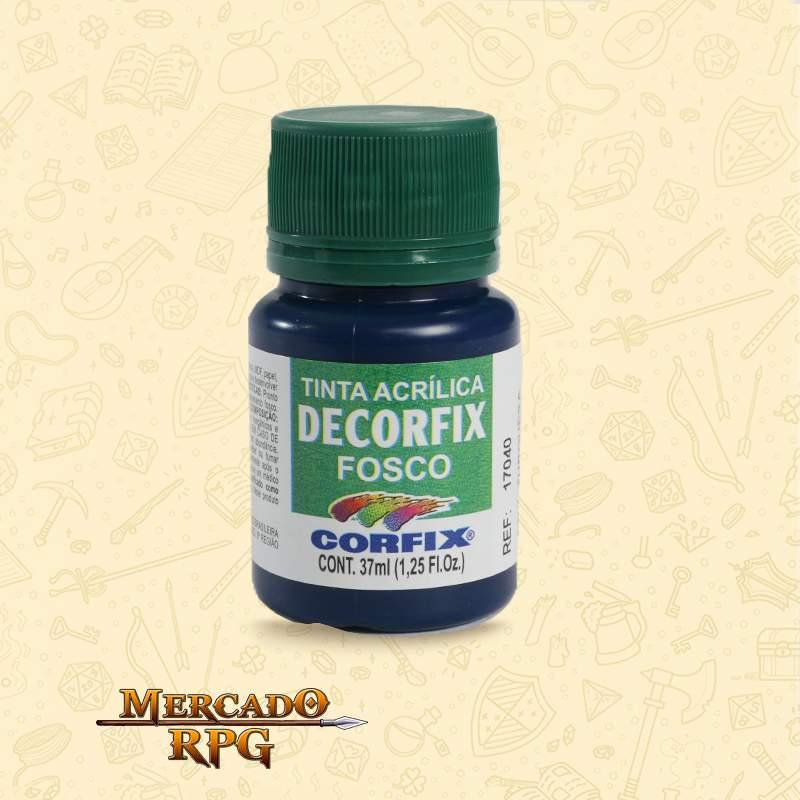 Tinta Acrílica Fosca Decorfix - Azul Turquesa 37ml - Corfix - RPG