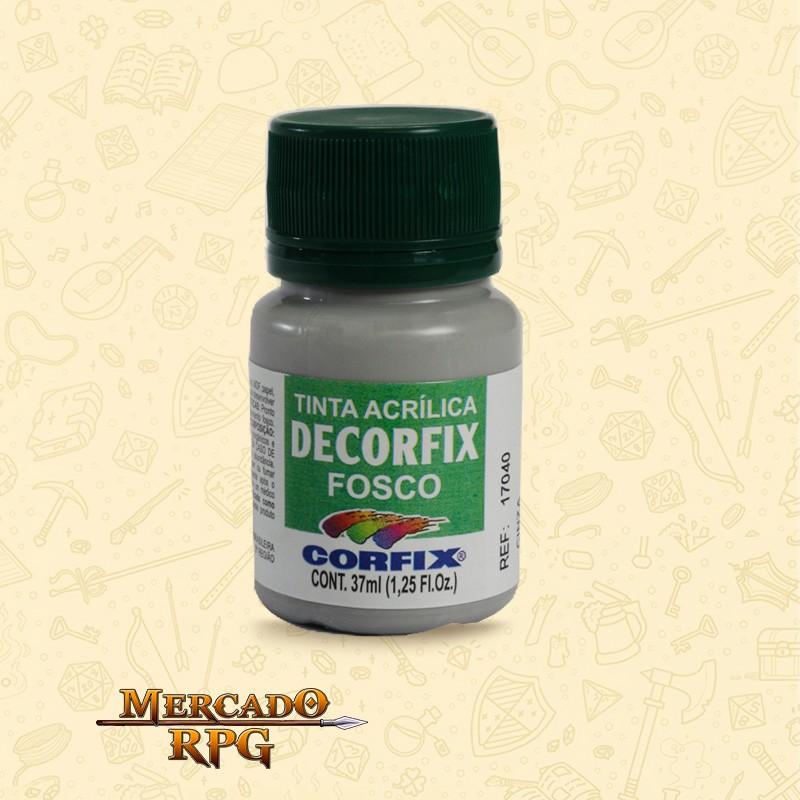 Tinta Acrílica Fosca Decorfix - Cinza 37ml - Corfix - RPG