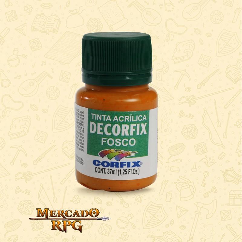 Tinta Acrílica Fosca Decorfix - Laranja 37ml - Corfix - RPG
