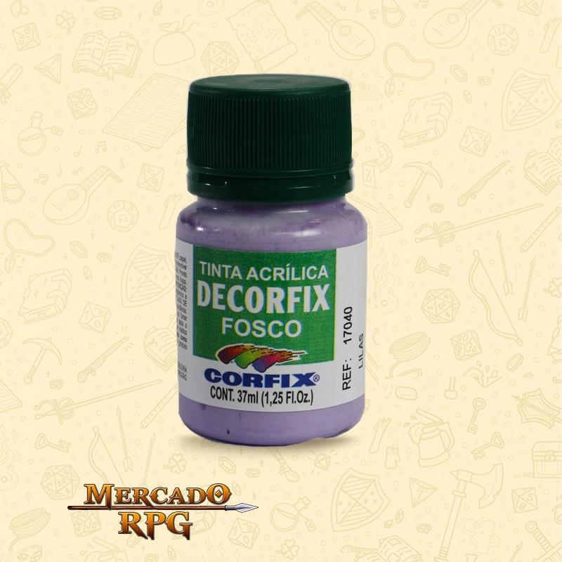 Tinta Acrílica Fosca Decorfix - Lilás 37ml - Corfix - RPG