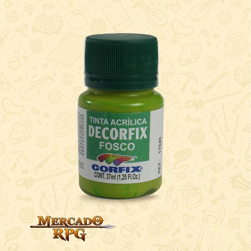 Tinta Acrílica Fosca Decorfix - Maçã Verde 37ml - Corfix - RPG
