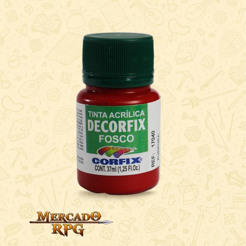 Tinta Acrílica Fosca Decorfix - Púrpura 37ml - Corfix - RPG