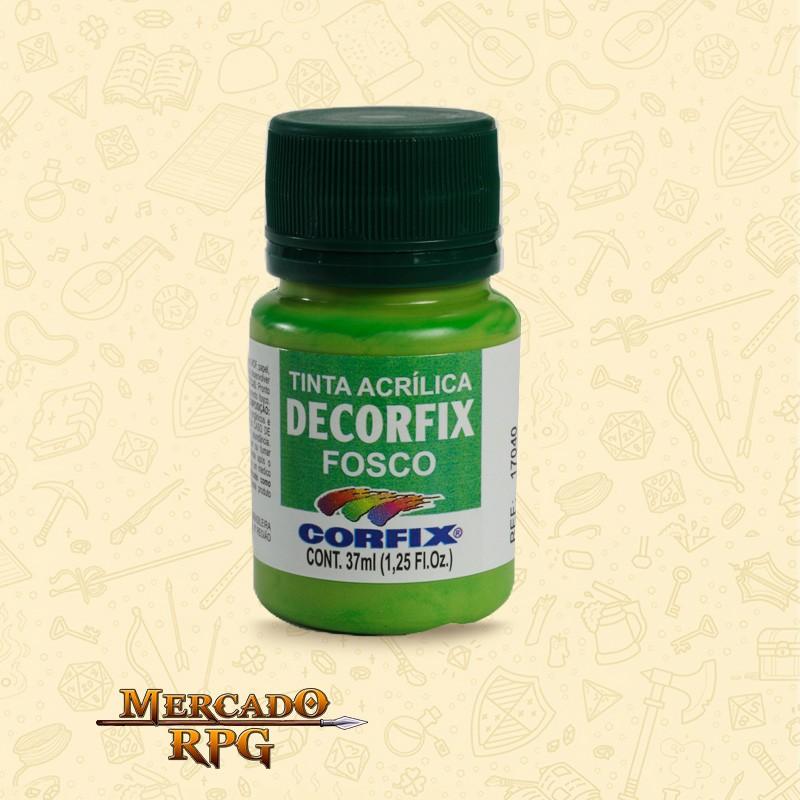 Tinta Acrílica Fosca Decorfix - Verde Pistache 37ml - Corfix - RPG