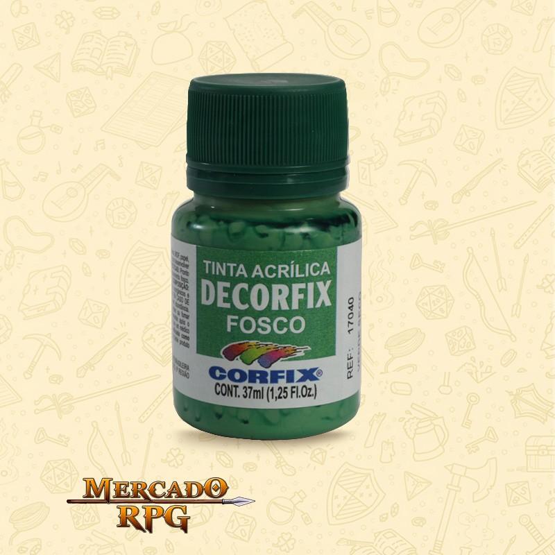 Tinta Acrílica Fosca Decorfix - Verde Seco 37ml - Corfix - RPG