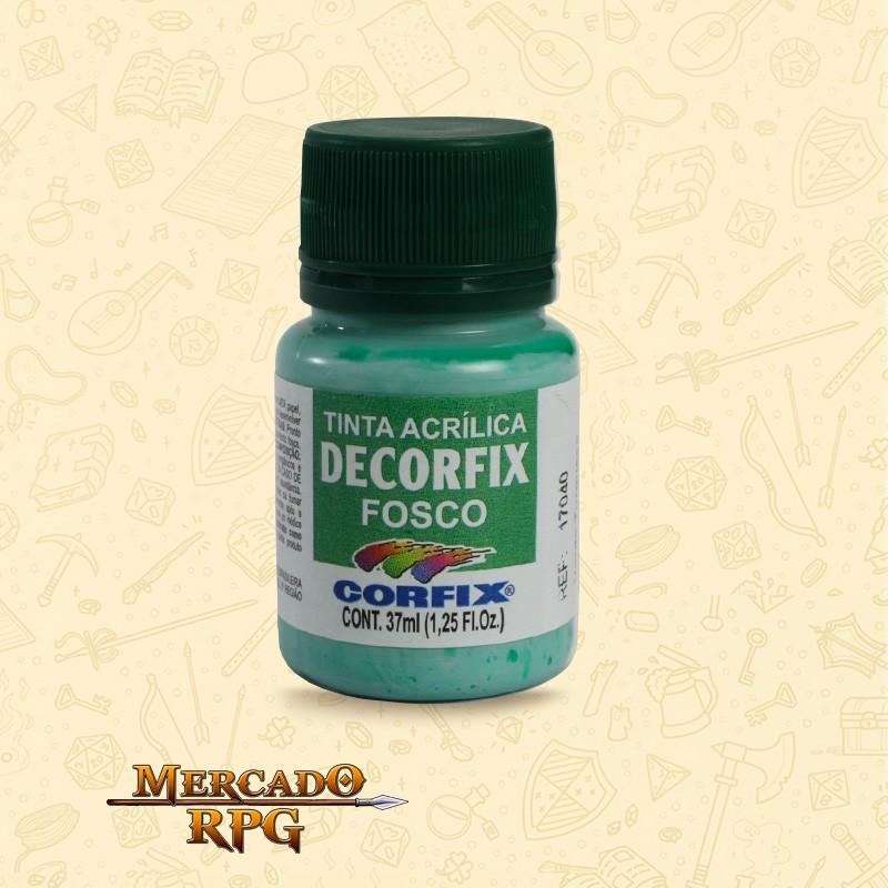 Tinta Acrílica Fosca Decorfix - Verde Turquesa 37ml - Corfix - RPG