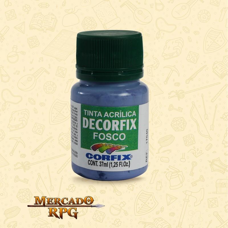 Tinta Acrílica Fosca Decorfix - Violeta Griss 37ml - Corfix - RPG