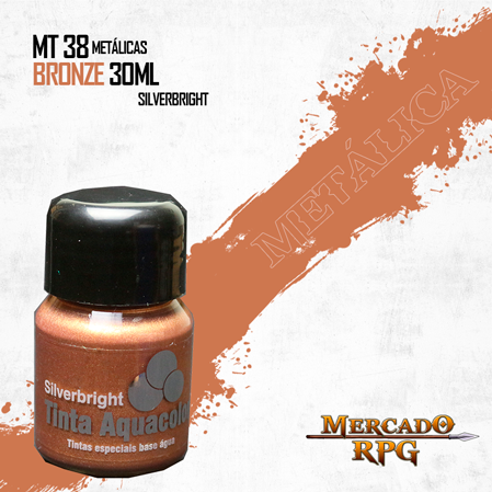 Tinta Aquacolor Metálica - Bronze 30ml Silverbright - RPG