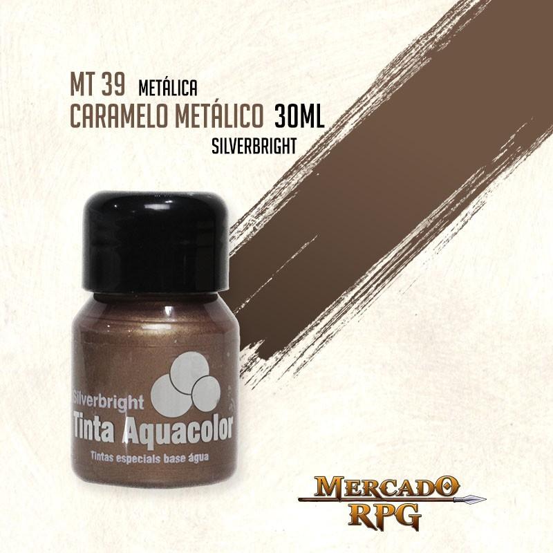 Tinta Aquacolor Metálica - Caramelo Metálico 30ml Silverbright - RPG