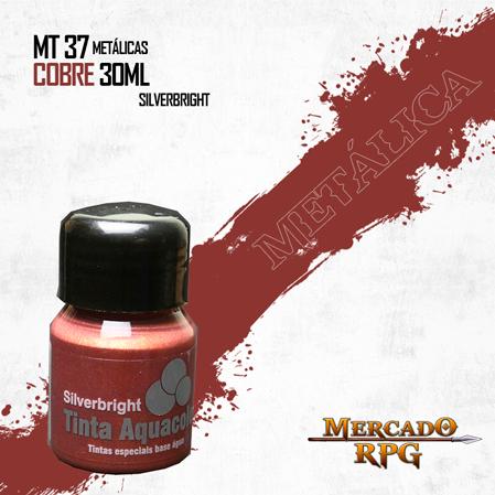 Tinta Aquacolor Metálica - Cobre 30ml Silverbright - RPG