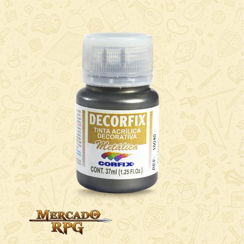 Tinta Metálica Decorfix - Estanho 37ml - Corfix - RPG