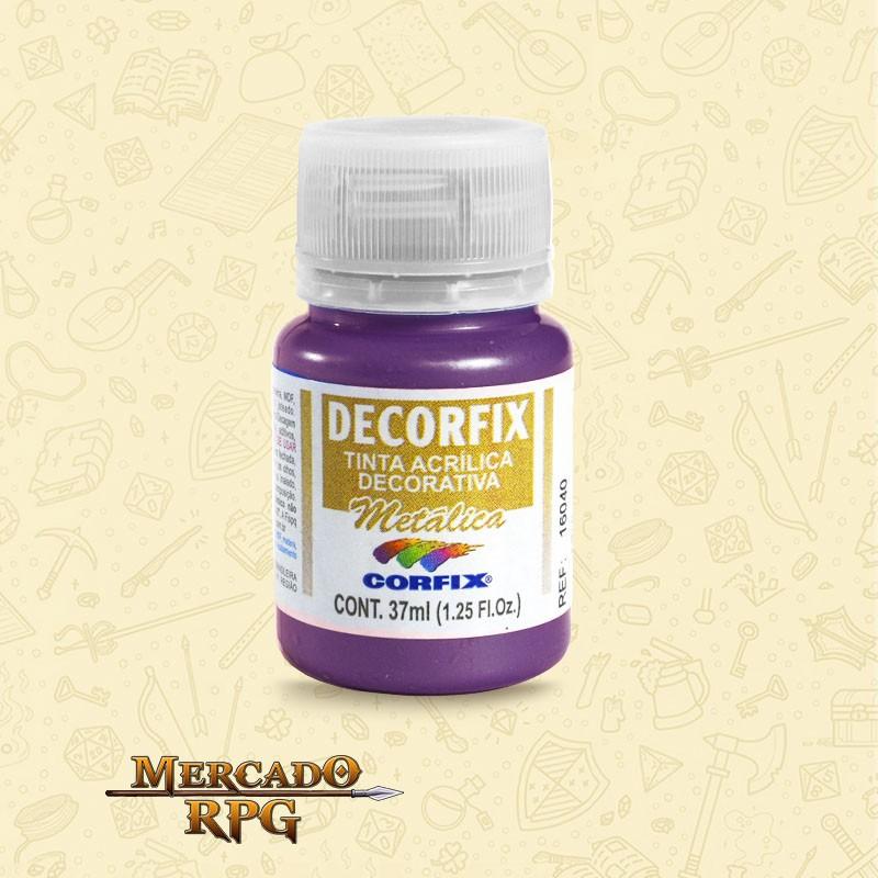 Tinta Metálica Decorfix - Violeta 37ml - Corfix - RPG
