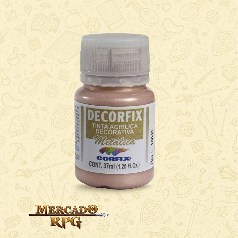 Tinta Metálica - Ouro Rose - DECORFIX