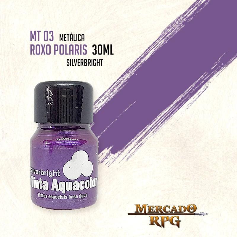 Tinta Aquacolor Metálica - Roxo Polaris 30ml Silverbright - RPG