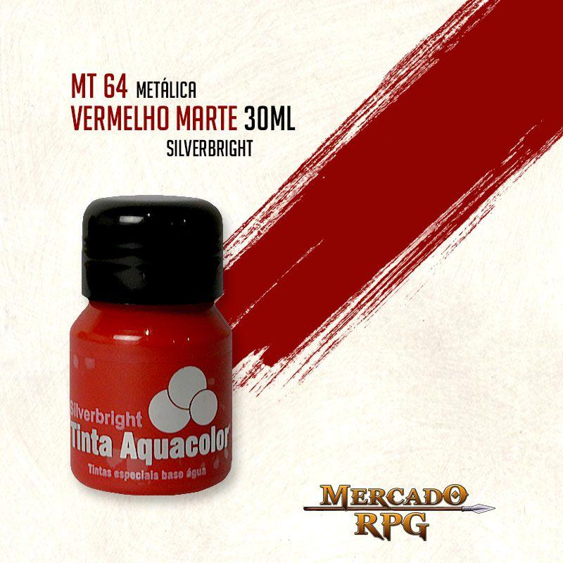 Tinta Aquacolor Metálica - Vermelho Marte 30ml Silverbright - RPG