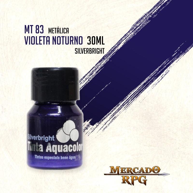 Tinta Aquacolor Metálica - Violeta Noturno 30ml Silverbright - RPG