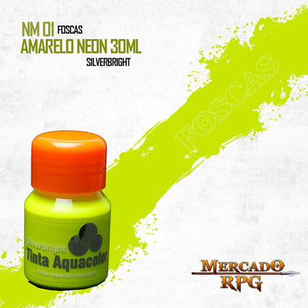 Tinta Neon Effect  - Amarelo Neon 30ml - Silverbright - RPG