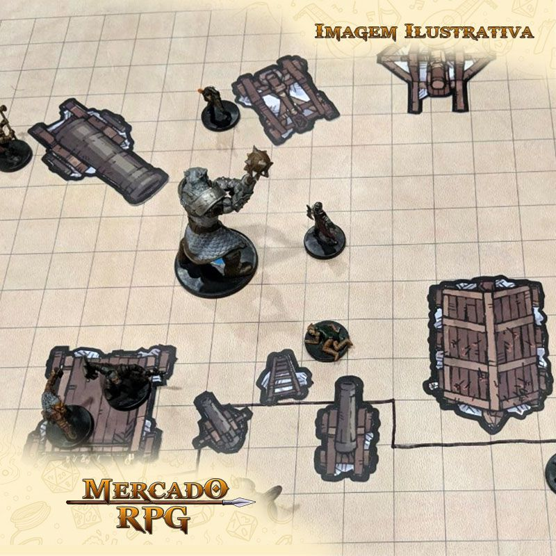Tokens de cenários - Dungeon Set - RPG  - Mercado RPG
