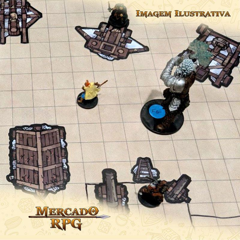 Tokens de cenários - Rooftops Set - RPG  - Mercado RPG