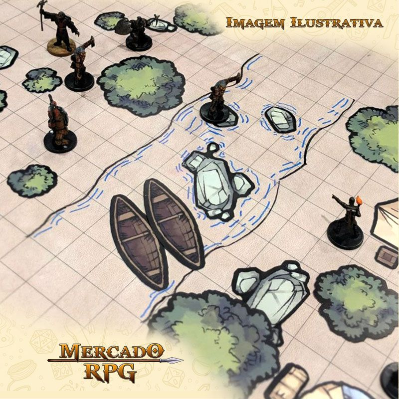Tokens de cenários - Town Market Set - RPG  - Mercado RPG