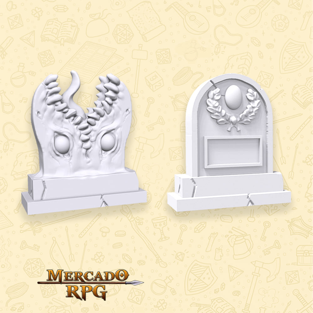 Tombstone and Tombstone Mimic - Miniatura - RPG