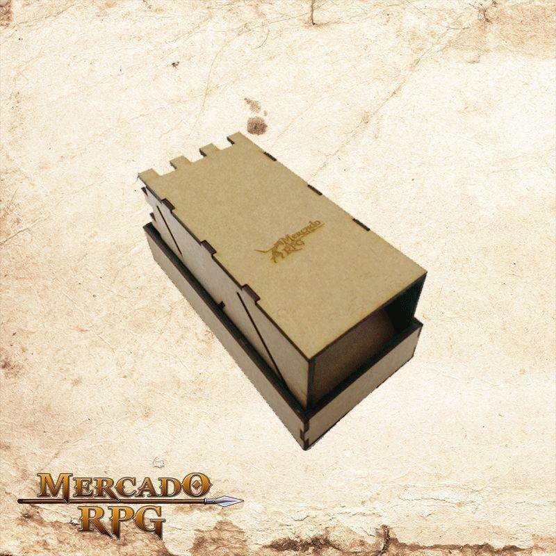 Torre de dados dobrável - azul  - Mercado RPG