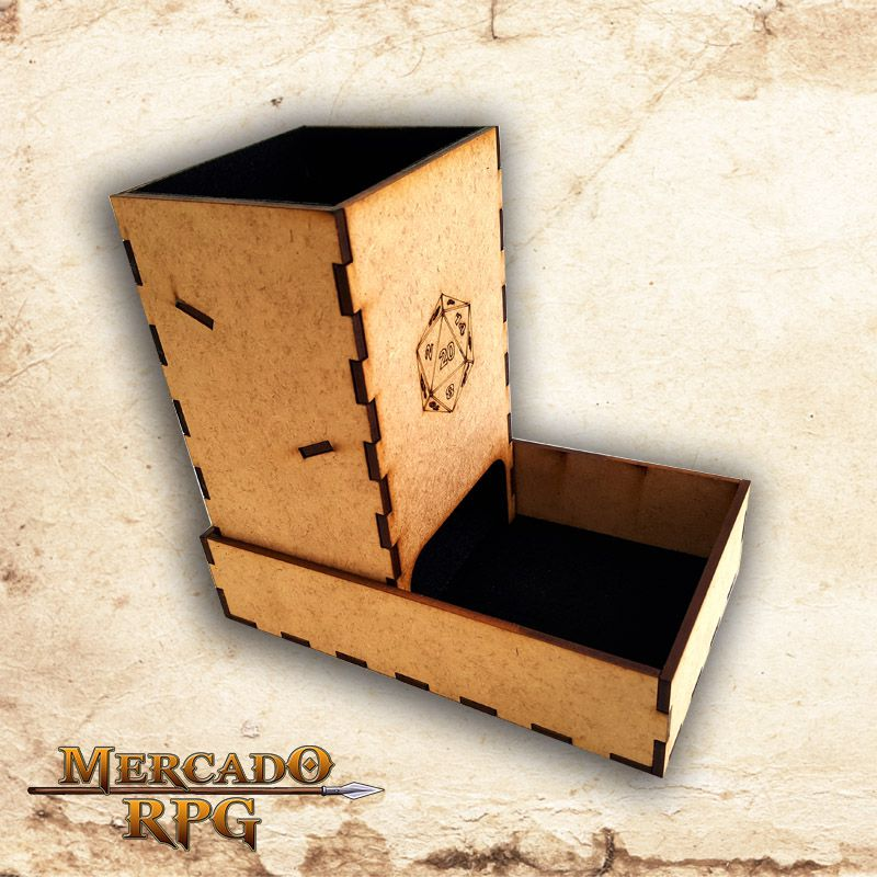 Torre de dados dobrável (D20) - RPG  - Mercado RPG