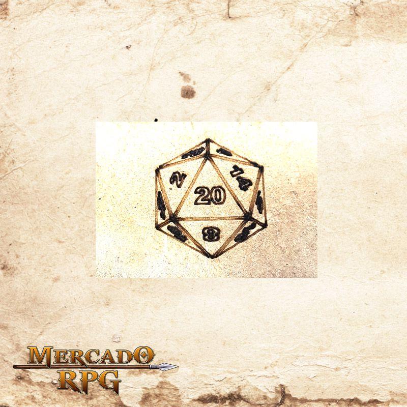 Torre de dados dobrável (D20)  - Mercado RPG