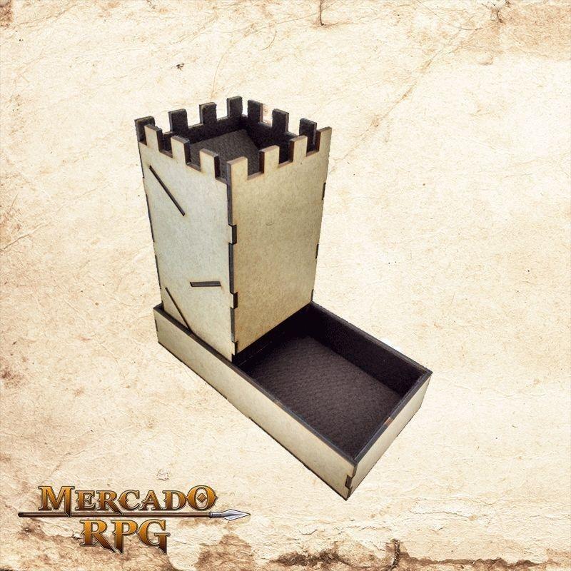 Torre de dados dobrável - marrom  - Mercado RPG