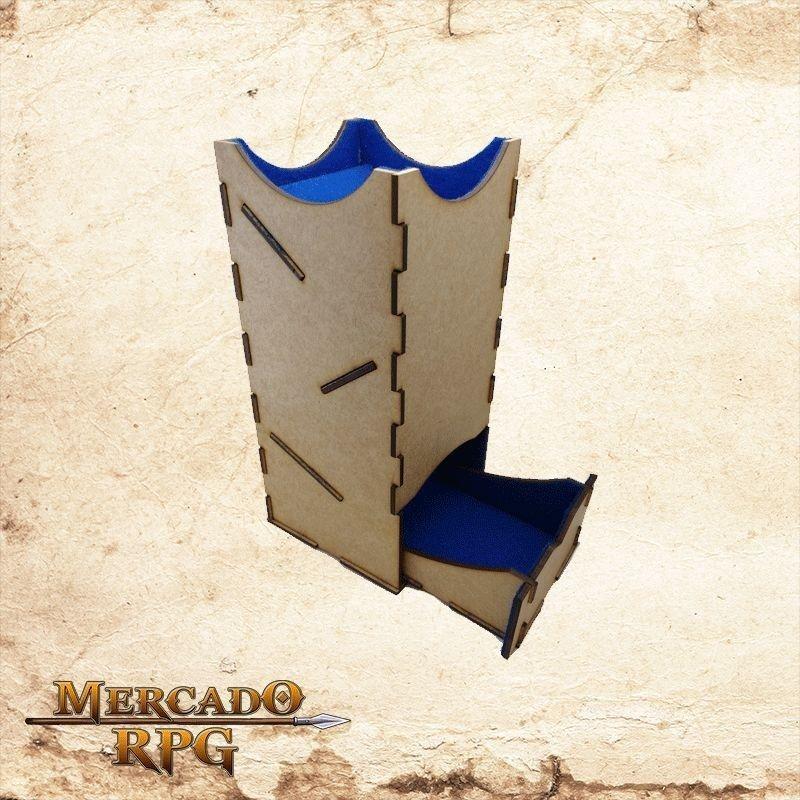 Torre de dados grande - azul  - Mercado RPG
