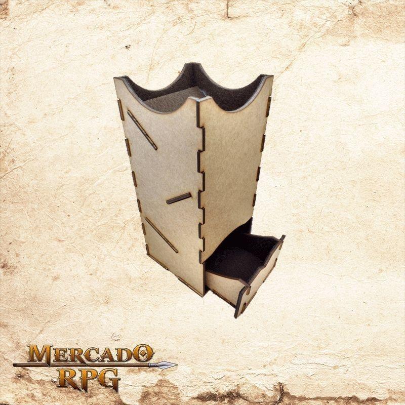 Torre de dados grande - marrom  - Mercado RPG
