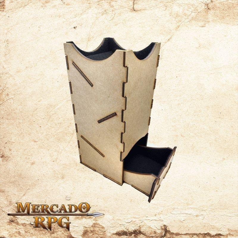 Torre de dados grande - preta  - Mercado RPG