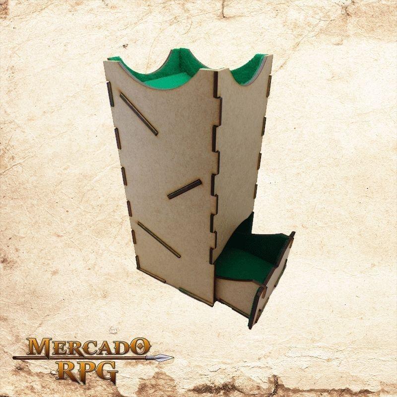 Torre de dados grande - verde  - Mercado RPG