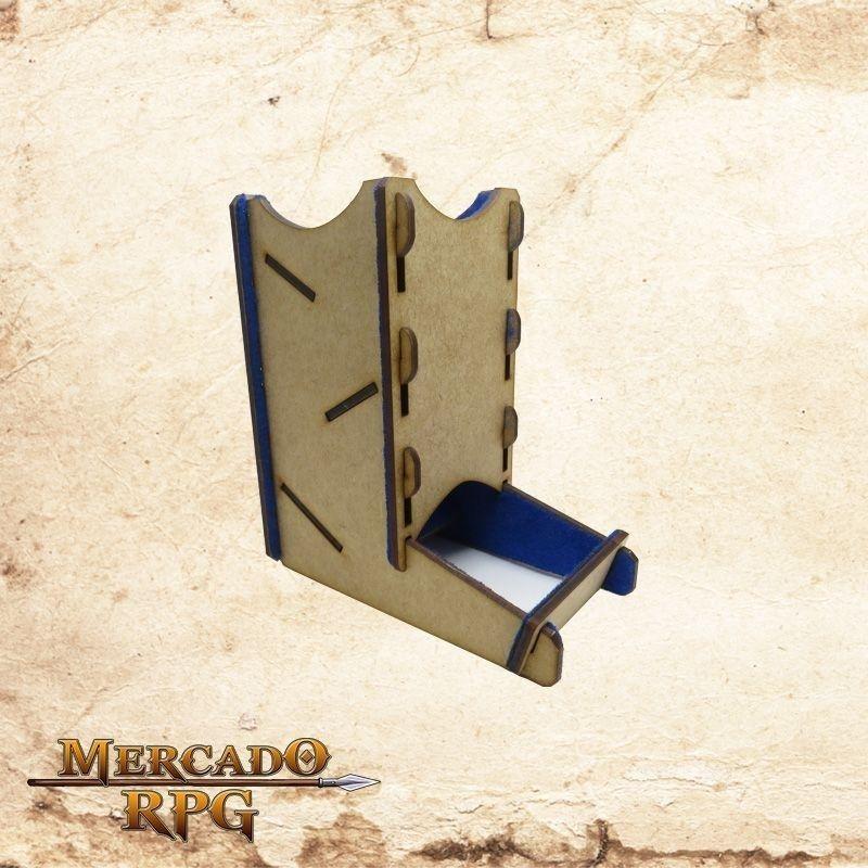 Torre de dados pequena (Azul)  - Mercado RPG
