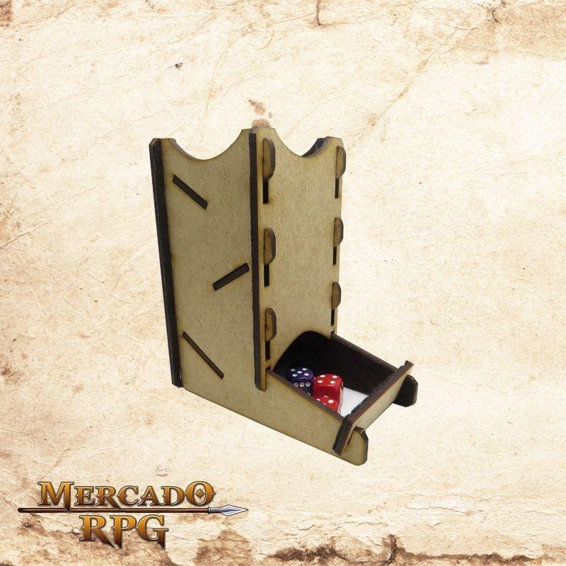 Torre de dados pequena (Marrom)  - Mercado RPG