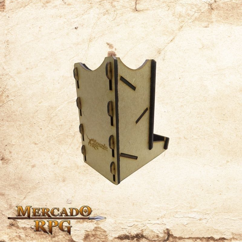 Torre de dados pequena (Preto)  - Mercado RPG
