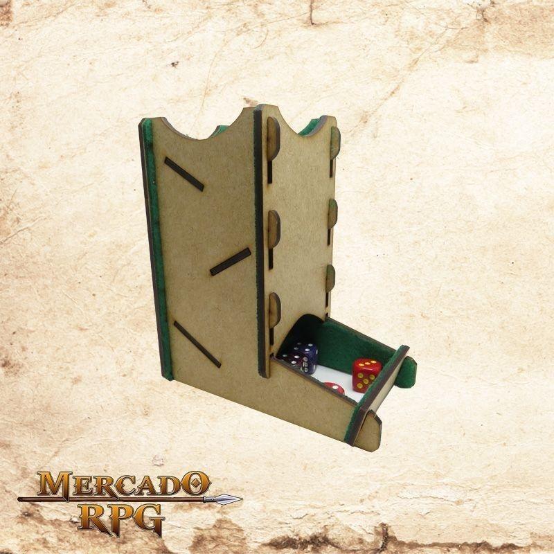 Torre de dados pequena (Verde)  - Mercado RPG