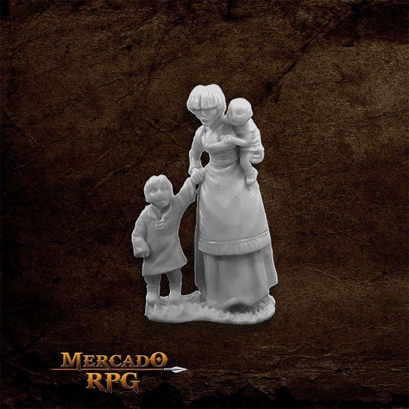 Townsfolk: Mom & Kids - Miniatura RPG