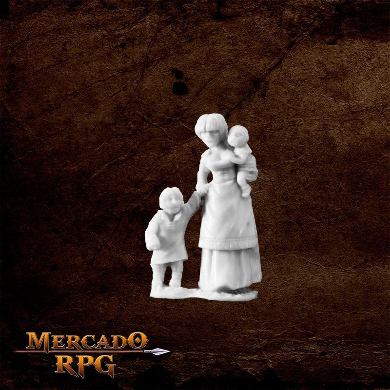 Townsfolk: Mom & Kids   - Mercado RPG