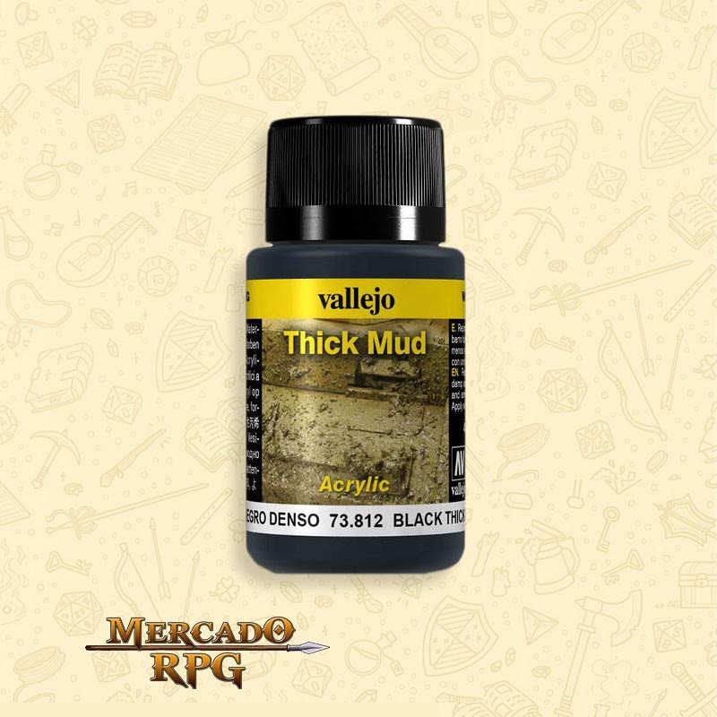 Vallejo Weathering: Black Thick Mud 40ml - RPG
