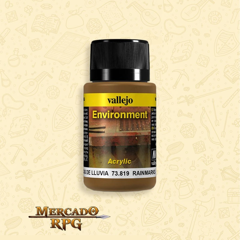 Vallejo Weathering: Environment - Rain Marks 40ml - RPG