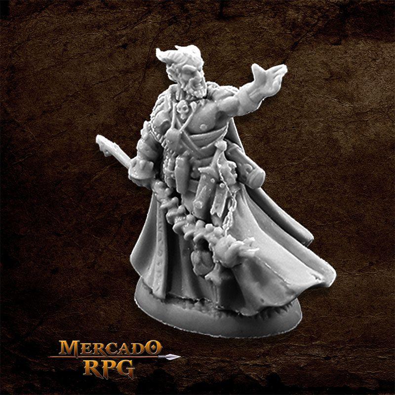Vatanis, Maggotcrown Warlock - Miniatura RPG