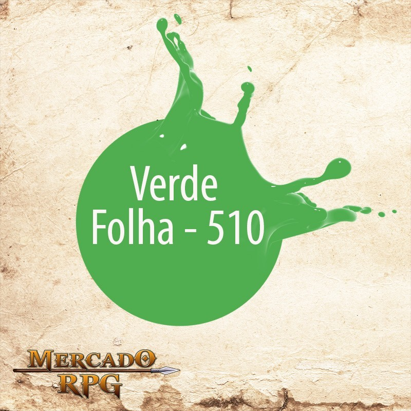 Verde Folha 510 - Tinta Acrílica Fosca Nature Colors 60ml - Acrilex - RPG