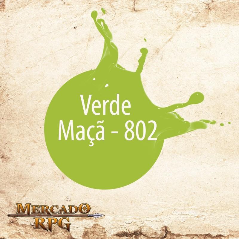 Verde Maçã 802 - Tinta Acrílica Fosca Nature Colors 60ml - Acrilex - RPG