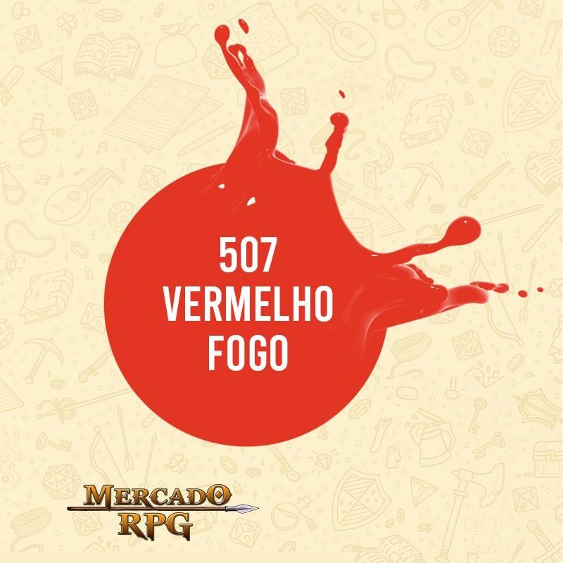Vermelho Fogo - 507 - Tinta Acrílica Fosca Nature Colors 60ml - Acrilex - RPG