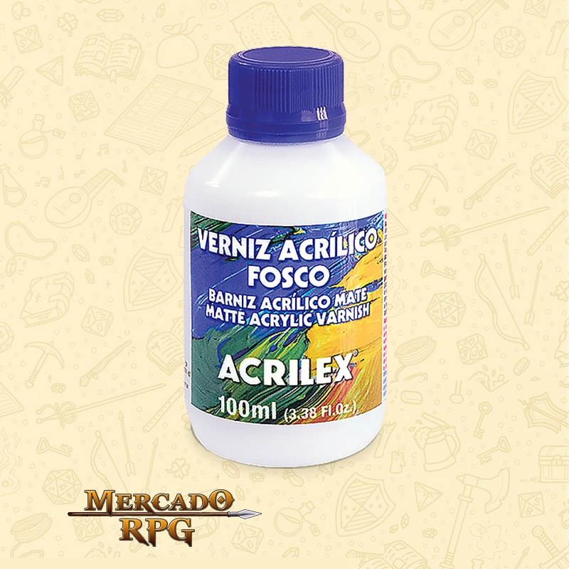 Verniz Acrílico Fosco 100ml - Acrilex - RPG