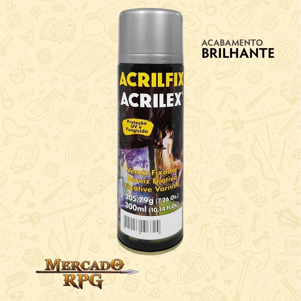 Verniz em Spray - Brilhante 300ml - Acrilfix - Acrilex - RPG