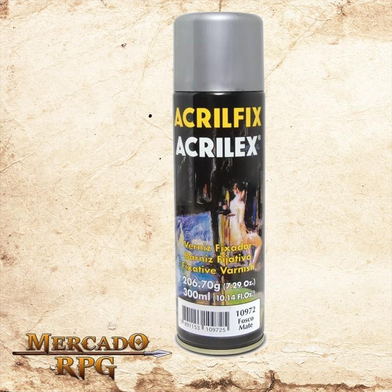 Verniz em Spray - Fosco 300ml - Acrilfix - Acrilex - RPG