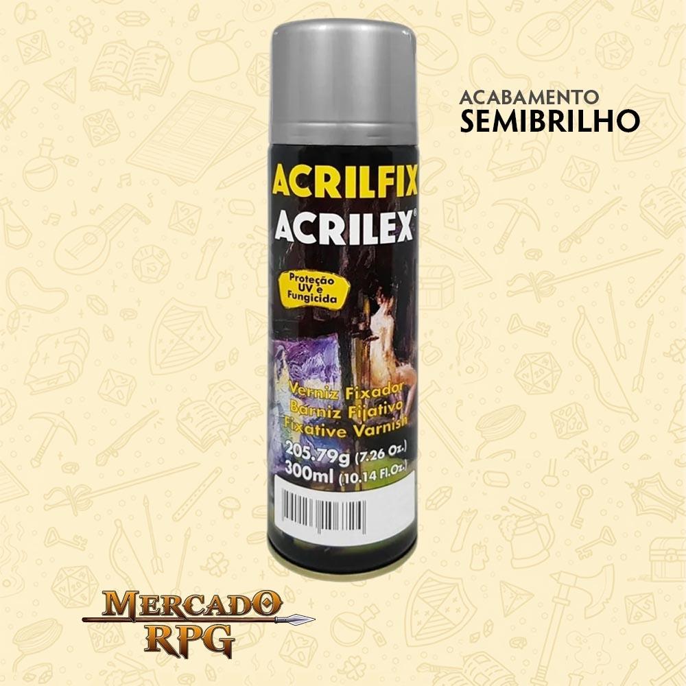 Verniz em Spray - Semibrilho 300ml - Acrilfix - Acrilex - RPG