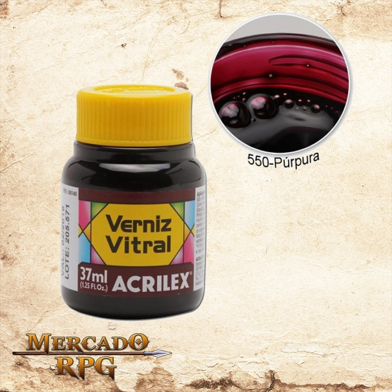 Verniz Vitral Púrpura 37ml - Acrilex - RPG