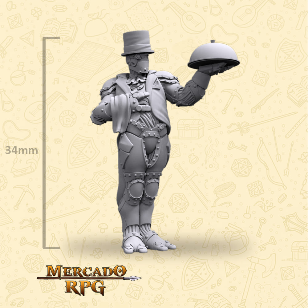Warforge Waiter - Miniatura - RPG